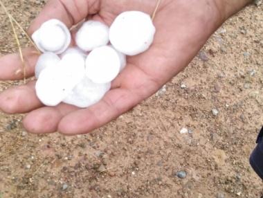 La zona de Bergasa también ha sido golpeada por el granizo