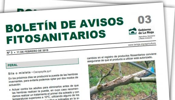 Boletín 03 de avisos fitosanitarios de La Rioja | 2019