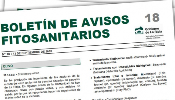 Boletín de avisos fitosanitarios de La Rioja 18 - 2018