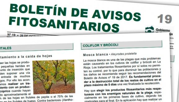 Boletín de avisos fitosanitarios de La Rioja 19 - 2018