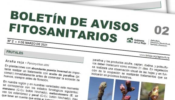 Boletín 2 de avisos fitosanitarios de La Rioja   2021