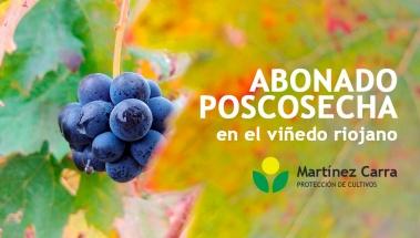 Abonado poscosecha en el viñedo riojano. Este año es tarea clave.
