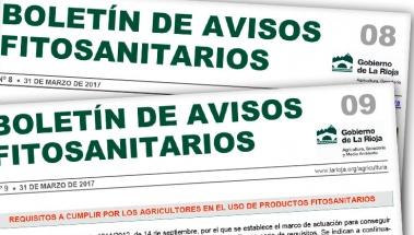 Boletín de avisos fitosanitarios de La Rioja 08 y 09
