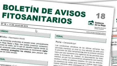 Boletín 18 de avisos fitosanitarios de La Rioja | 2019