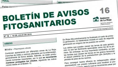 Boletín de avisos fitosanitarios de La Rioja 16