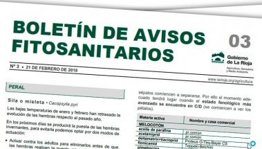 Boletín de Avisos Fitosanitarios de La Rioja 3