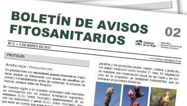 Boletín 2 de avisos fitosanitarios de La Rioja | 2021