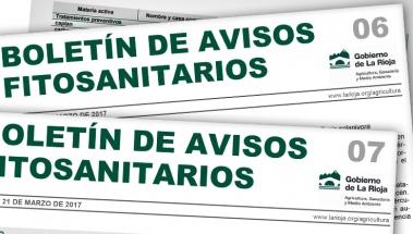 Boletín de avisos fitosanitarios de La Rioja 06 y 07