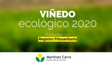 Catálogo para viñedo ecológico 2020 con registro sanitario