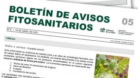 Boletín 5 de avisos fitosanitarios de La Rioja | 2021